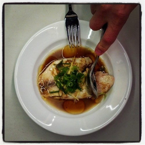 Microwave Sherry Poached Fish