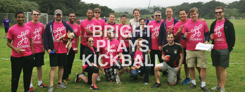 Bright team places 2nd in charity kickball tournament